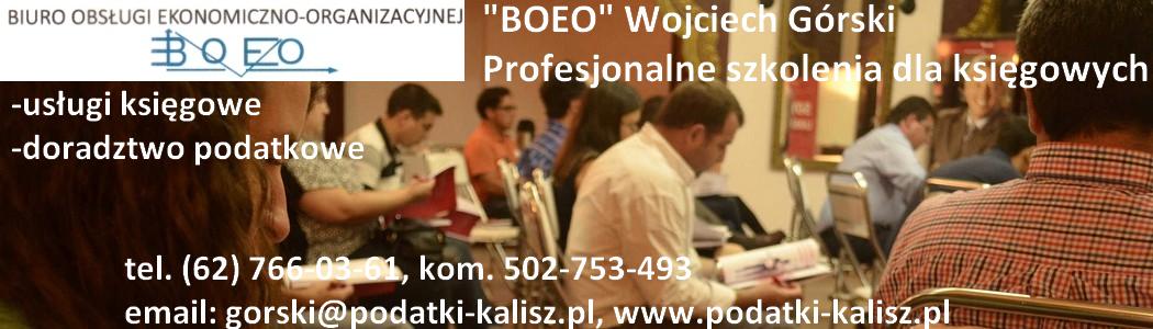 szkolenia dla księgowych kalisz Boeo Wojciech Górski banner 2