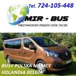 MIR-BUS PRZEWÓZ OSÓB BUSY POLSKA NIEMCY HOLANDIA BELGIA